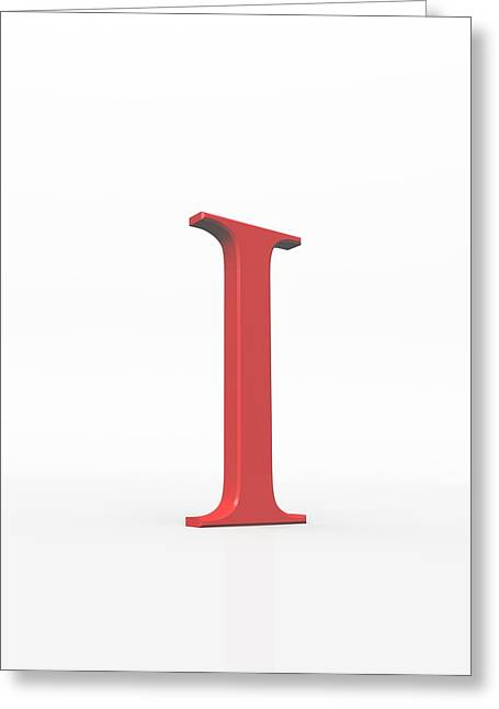 Greek Letter Iota, Upper Case Greeting Card by David Parker