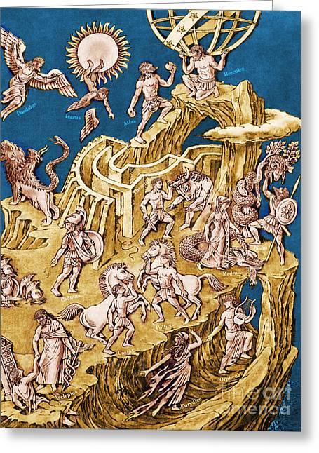 Greek Mythological Characters Greeting Card