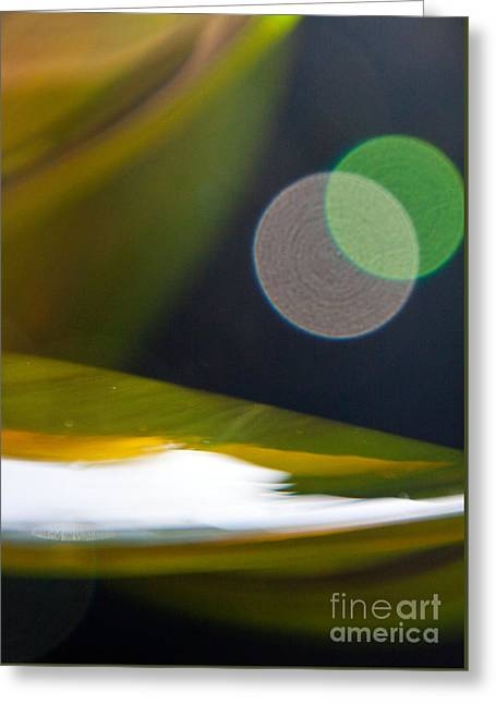 Green And Gold Abstract Greeting Card by Dana Kern