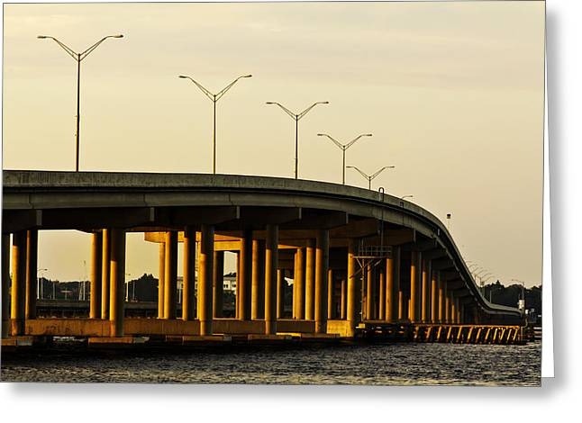 Green Bridge To Palmetto Greeting Card