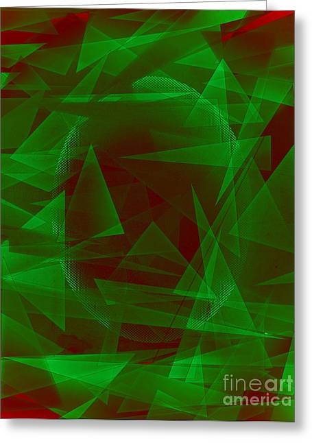 Green Eyed Monster Abstract Greeting Card by Michelle Bergersen