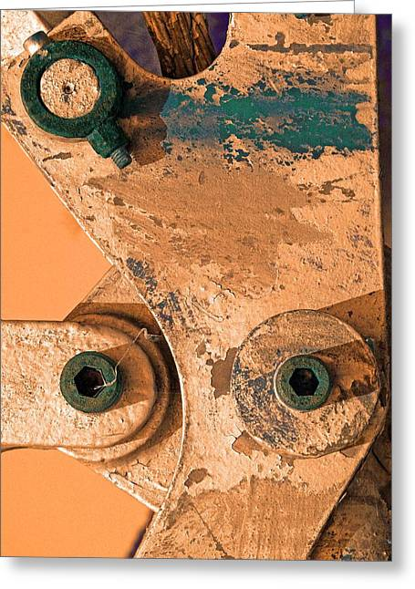Green Eyes Greeting Card by Marcia Lee Jones