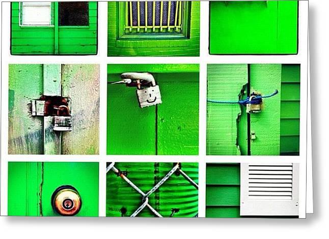 Green Greeting Card by Julie Gebhardt