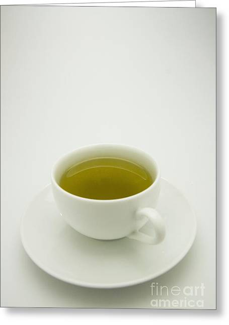 Green Tea In Teacup Greeting Card by Thom Gourley/Flatbread Images, LLC