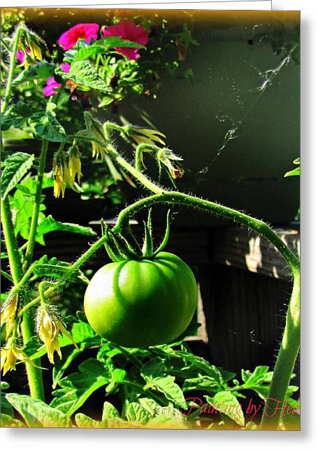 Green Tomatoes Greeting Card