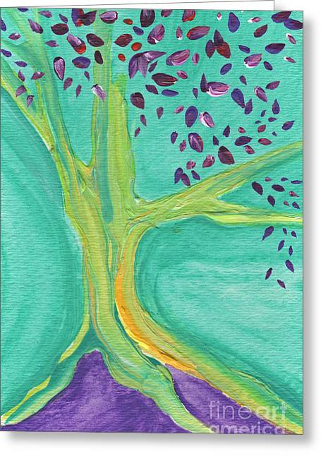 Green Tree Greeting Card by First Star Art