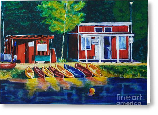 Green Valley Lake Boat House Greeting Card