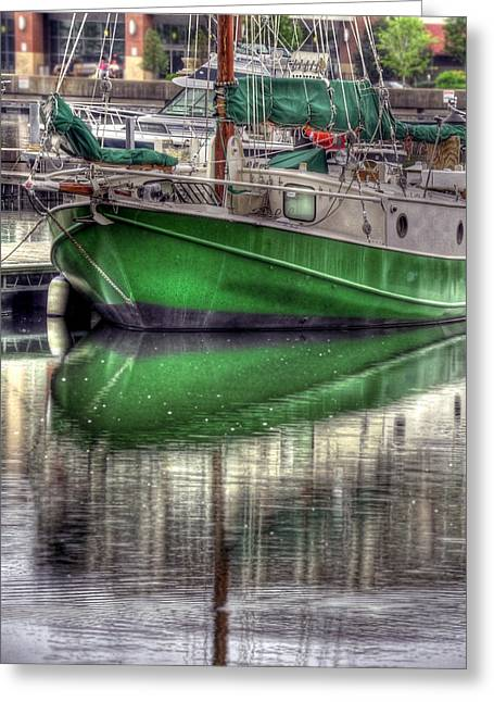 Green With Envy Greeting Card by Brian Fisher