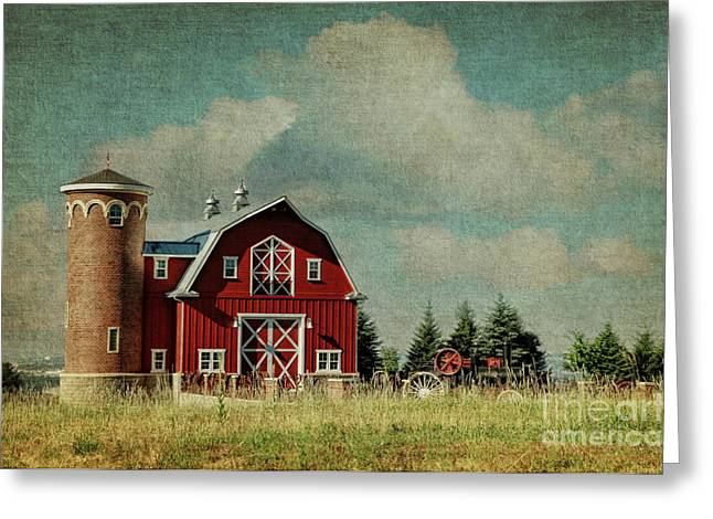 Greenbluff Barn Greeting Card by Beve Brown-Clark Photography