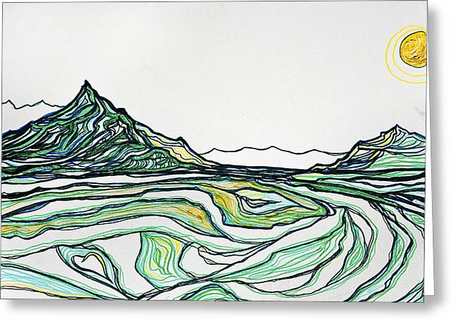 Greenies Greeting Card by Stephanie Meyer