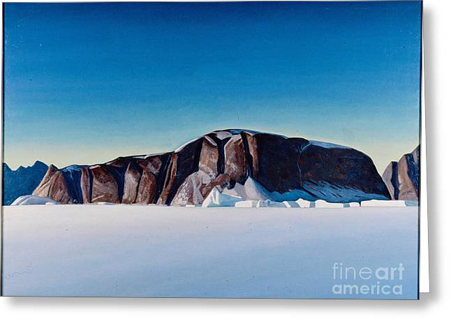 Greenland Coast Greeting Card by Kent Rockwell