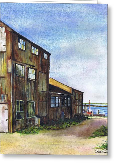 Greenport Boatyard Greeting Card