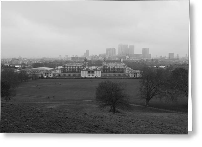 Greeting Card featuring the photograph Greenwich View by Maj Seda