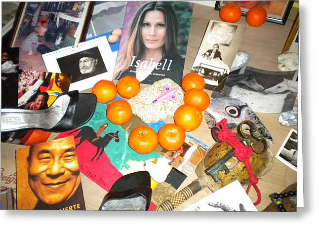 Greeting For The Danish Queen Margaret 15 January 2012home Camp To Egypt Greeting Card by Colette V Hera  Guggenheim