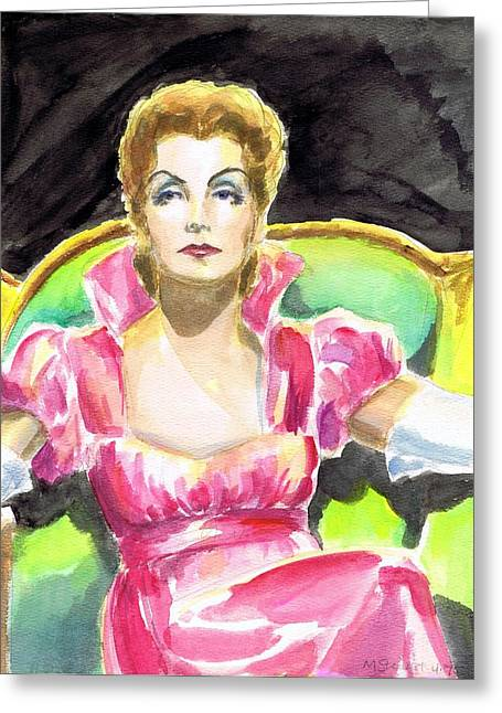 Greta Garbo Greeting Card by Mel Thompson