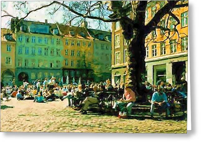 Grey Brothers Square I Greeting Card by Asbjorn Lonvig