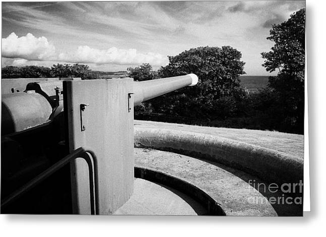 grey point fort and battery Belfast Lough county down Greeting Card