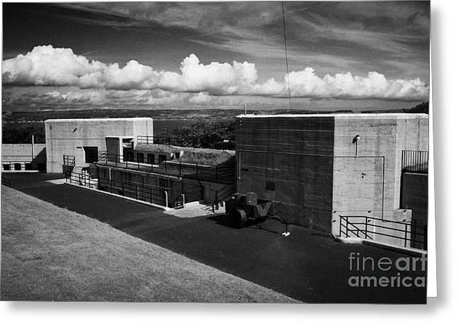grey point fort and battery Belfast Lough county down northern ireland  Greeting Card