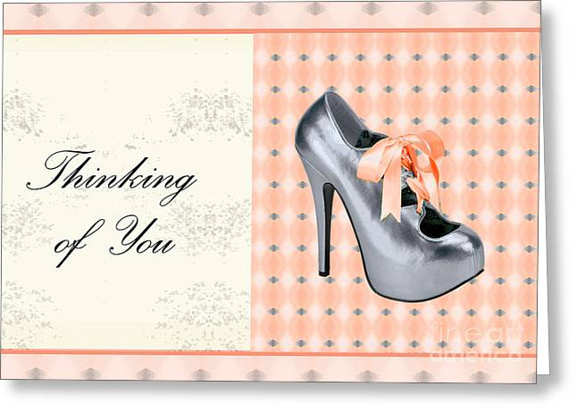 Grey Shoe Thinking Of You Greeting Card