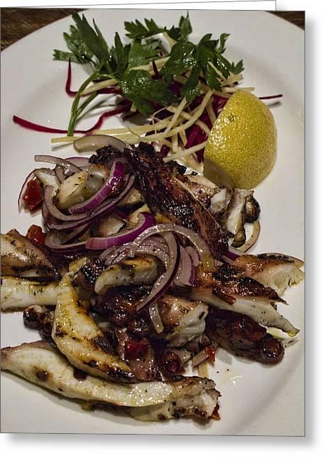 Griiled Fresh Greek Octopus Greeting Card