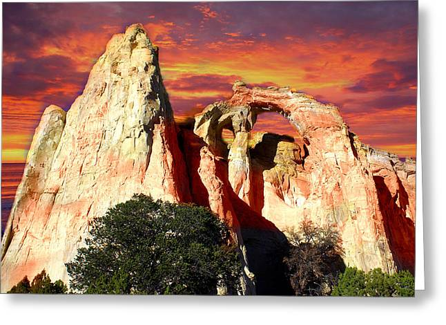 Grosvners Arch Greeting Card by Marty Koch