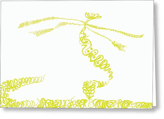 Ground Frond Greeting Card