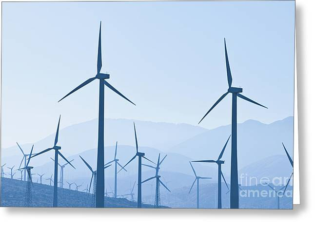 Group Of Wind Turbines Greeting Card by Dave & Les Jacobs