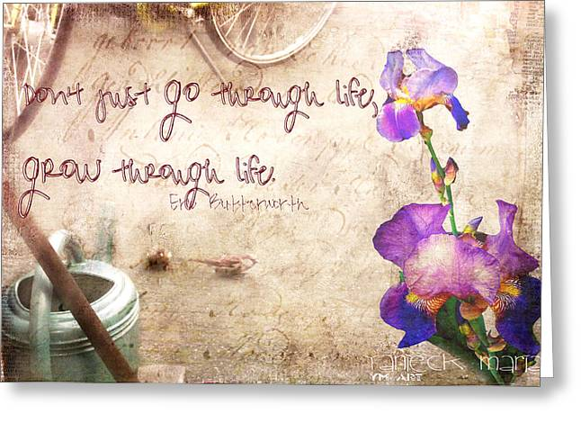 Grow Through Life Greeting Card by Yvon van der Wijk