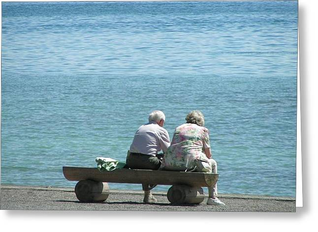 Growing Old Together Greeting Card