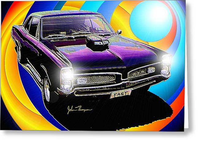 GTO Greeting Card by John Thompson
