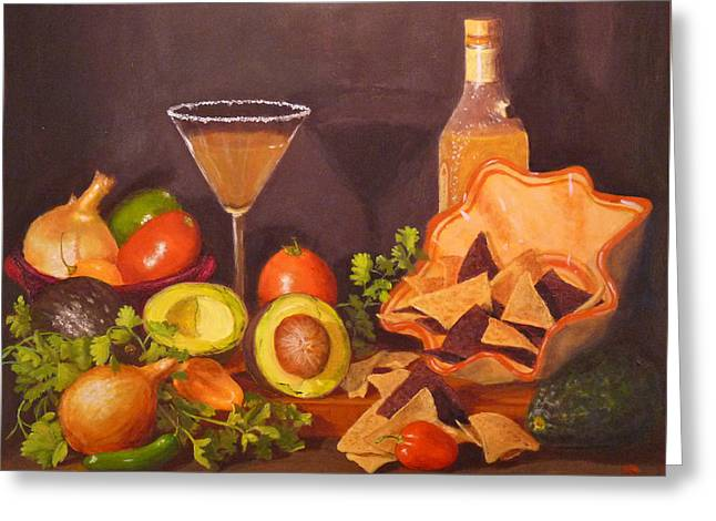 Greeting Card featuring the painting Guacamole by Joe Bergholm