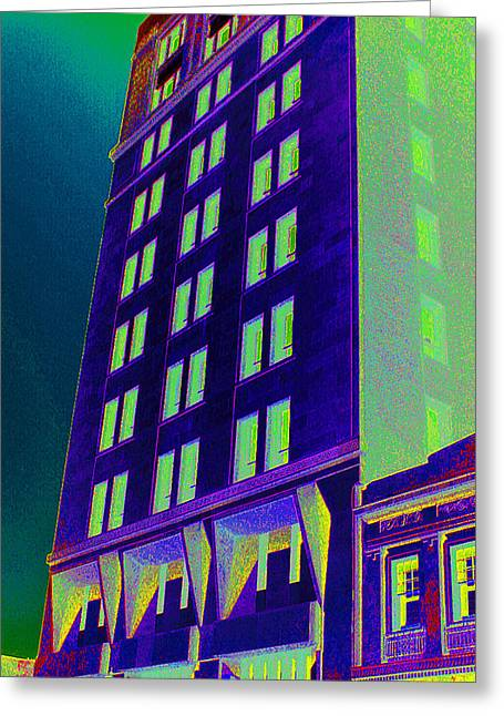 Greeting Card featuring the photograph Guaranty Bank Building by Louis Nugent