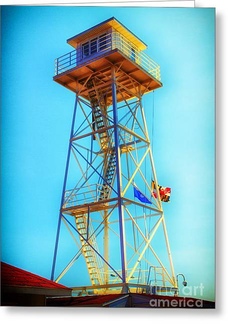 Guard Tower Greeting Card by Thanh Tran