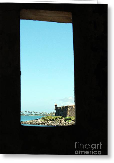 Guard Tower View Castillo San Felipe Del Morro San Juan Puerto Rico Greeting Card by Shawn O'Brien
