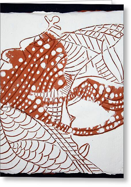 Guardian Angel - Tile Greeting Card by Gloria Ssali
