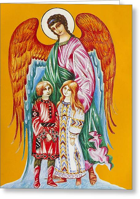 Guardian Angel For Children Greeting Card