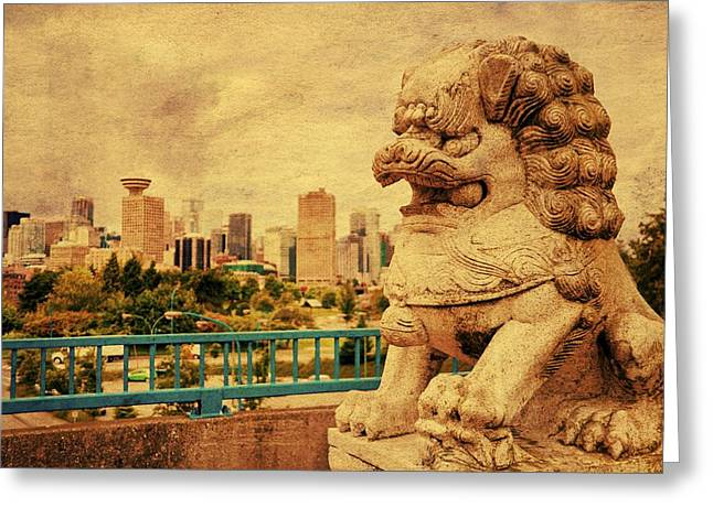 Guardian Of The City Greeting Card by Julius Reque