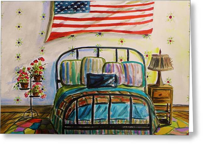Guest Bedroom Greeting Card by John Williams