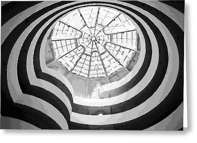 Guggenheim Museum Bw16 Greeting Card by Scott Kelley