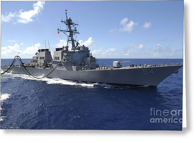 Guided Missile Destroyer Uss Curtis Greeting Card