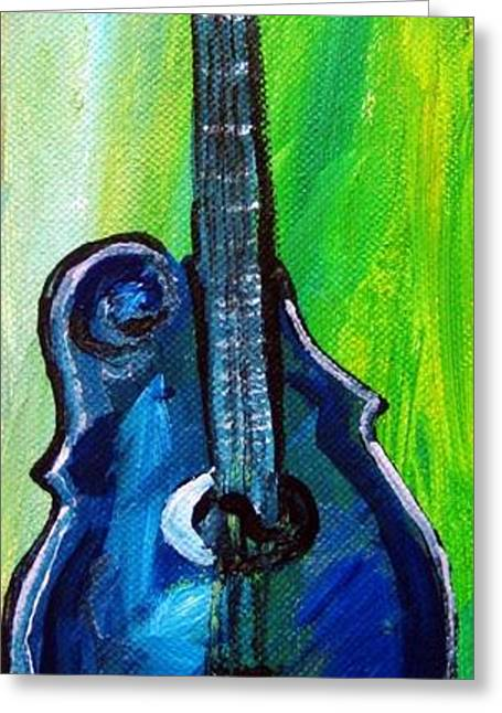 Greeting Card featuring the painting Guitar 1 by Amanda Dinan