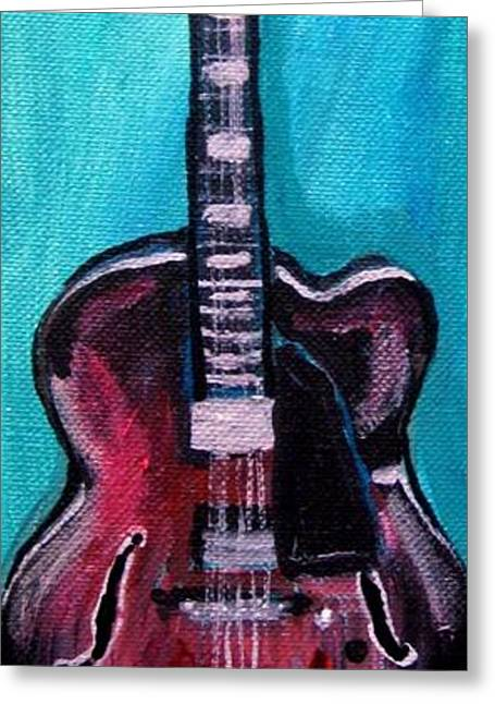 Guitar 2 Greeting Card by Amanda Dinan