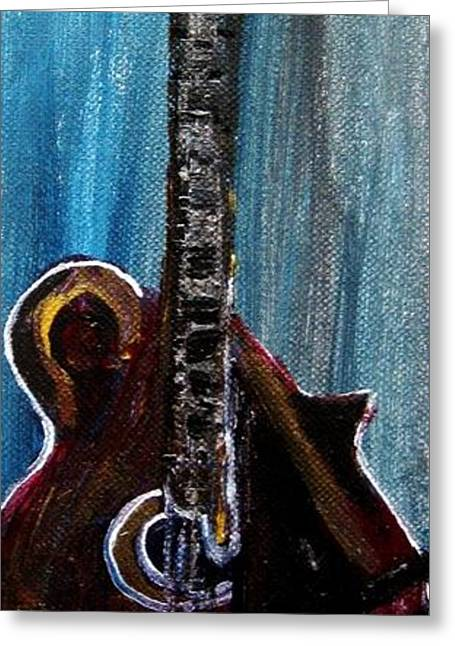 Greeting Card featuring the painting Guitar 3 by Amanda Dinan