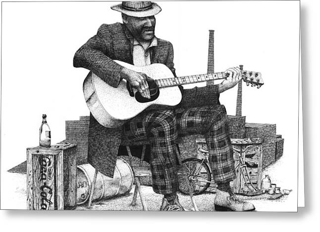 Guitar Guy 2 Greeting Card by Olin  McKay