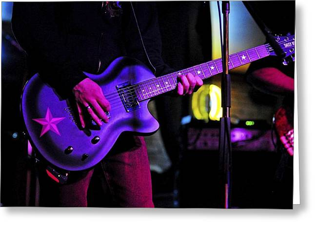 Guitar Player Greeting Card by Rawimage Photography