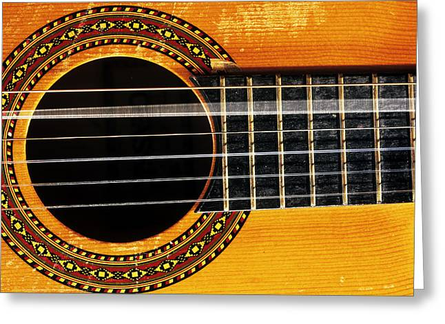 Guitar String Vibrating Greeting Card by Andrew Lambert Photography