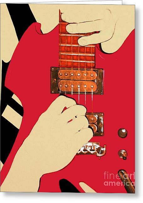 Guitarist Hands Greeting Card by Malik  Church