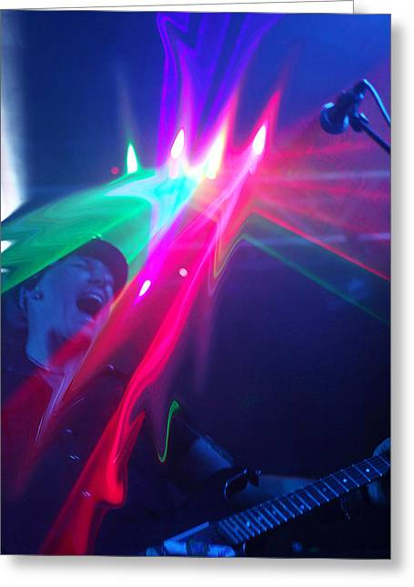 Guitarist On Fire Greeting Card by James Hammen