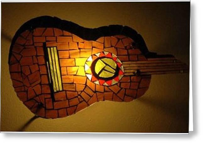Guitarra Greeting Card by Sonia Ruiz