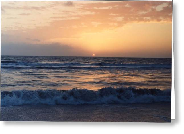 Greeting Card featuring the photograph Gulf Coast Sunset by Lynnette Johns